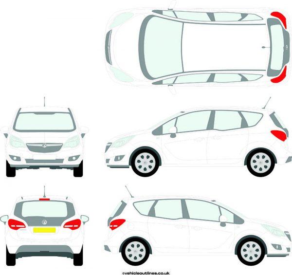 Cars Vauxhall Meriva 2010-17