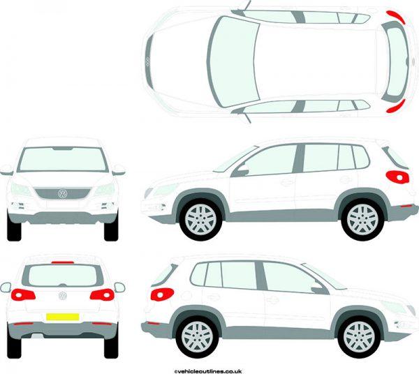 4x4 Volkswagen Tiguan 2008-16