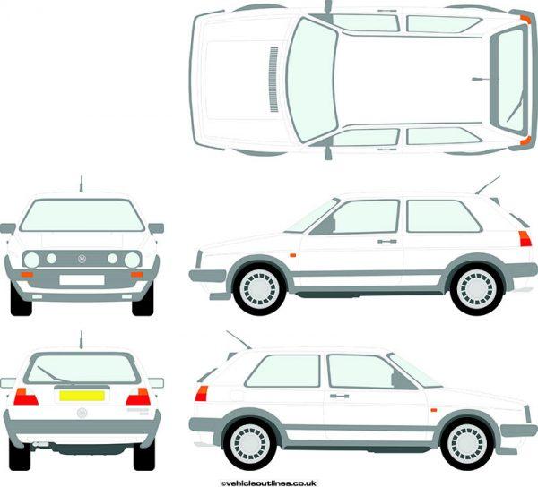 Cars Volkswagen Golf 1986-92