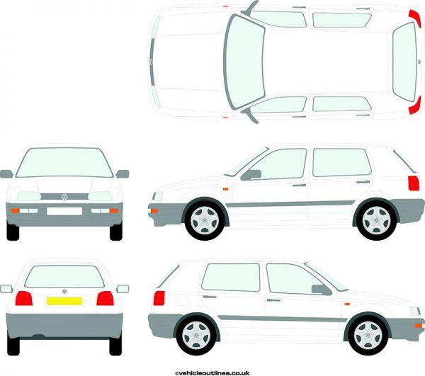 Cars Volkswagen Golf 1992-98
