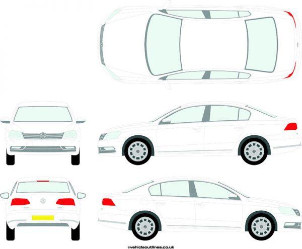 Cars Volkswagen Passat 2010-14