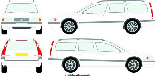 Cars Volvo V70 2000-07