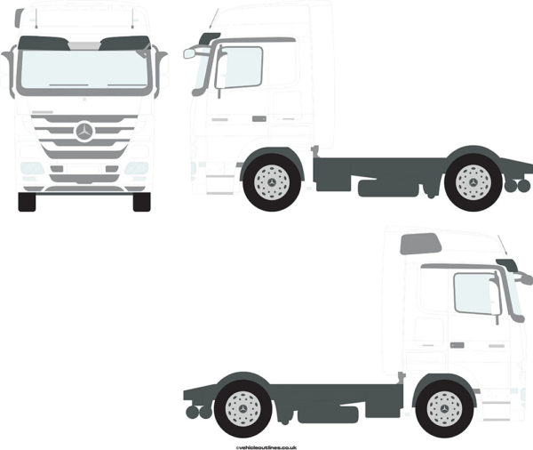 TRACTOR UNITS MERCEDES Actros 2008-11